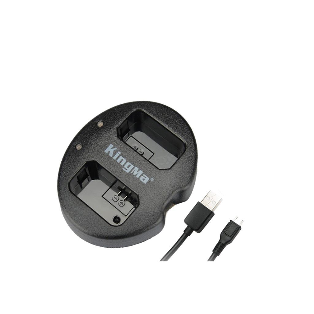 Kingma Charger NP-W126 For Fuji , Fujifilm - USB Dual Charger