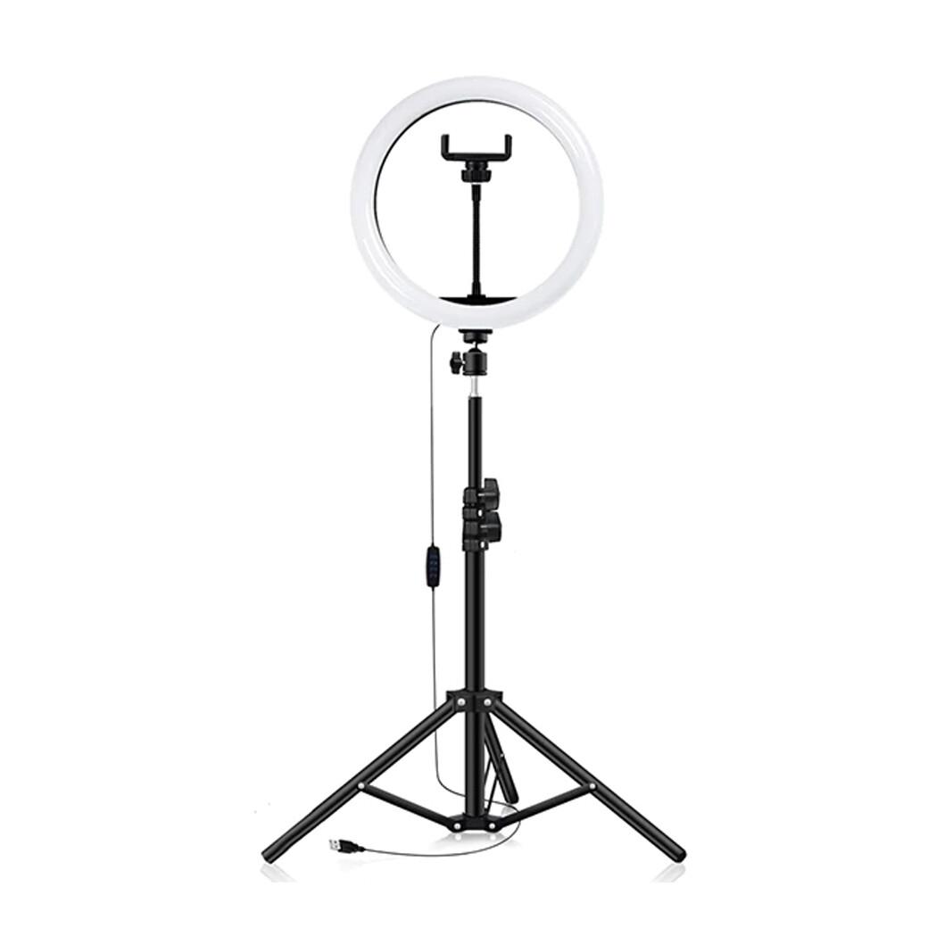 LED Ring Fill Llight 10 นิ้ว +ขาตั้ง 200 ซม. ** ไฟแต่งหน้า-ถ่ายรีวิว-Liveสด-ปรับสีได้