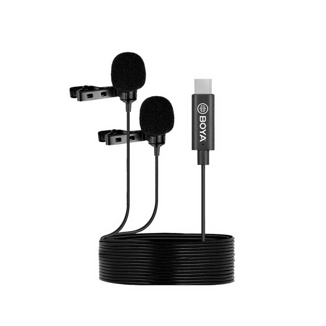 Boya BY-M3D - Dual Lavalier Microphone ( Type-C , IPAD Pro , MAC ) ไมค์แบบคู่ หนีบปกเสื้อ - รับประกันร้าน Digilife Thailand 1ปี