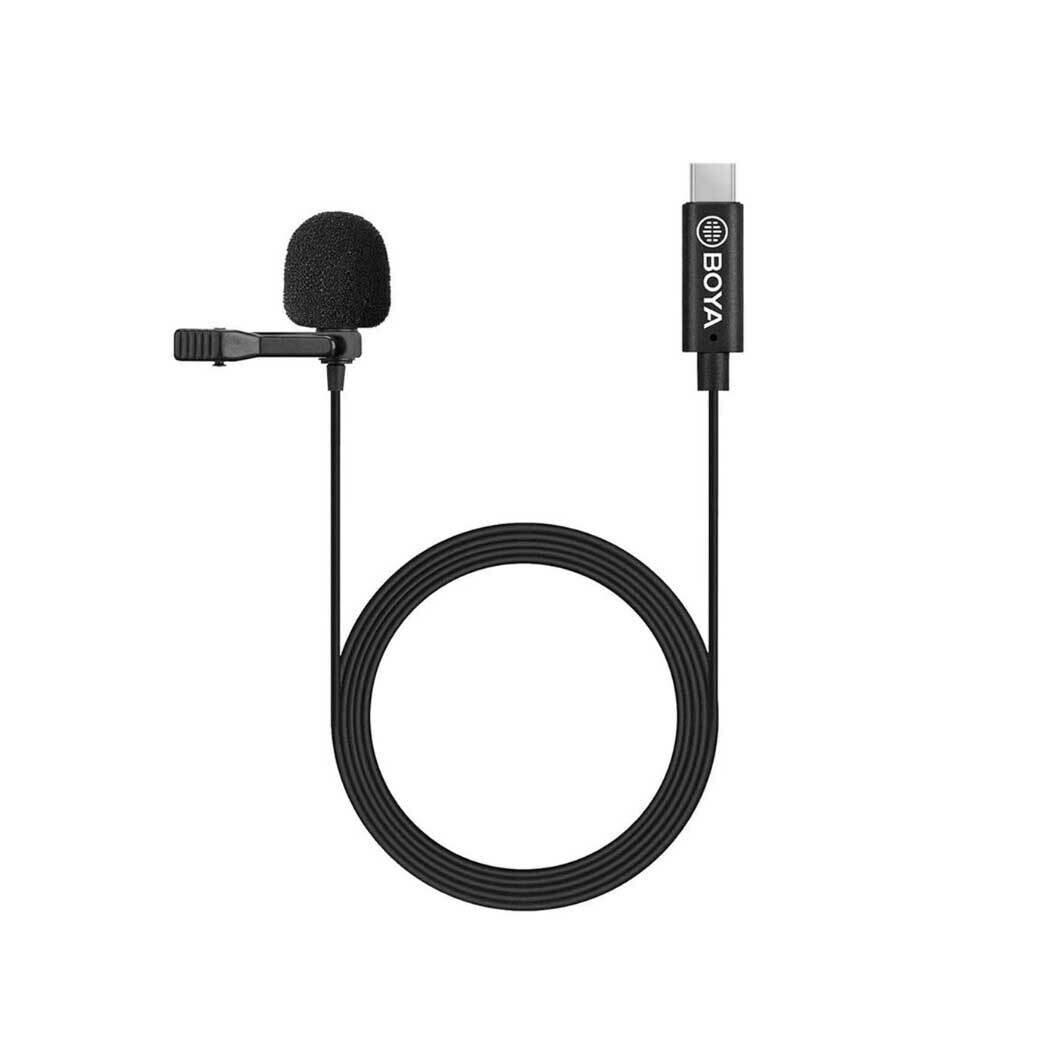 Boya BY-M3 ( Type-C , IPAD Pro , MAC Lavalier Microphone ) ไมค์หนีบปกเสื้อ, ไลว์สด, วิดีโอ - รับประกันร้าน Digilife Thailand 1ปี