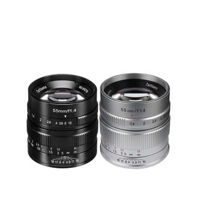 7Artisans Lens 55 mm. F1.4 For Mirrorless เลนส์มือหมุนหน้าชัดหลังเบลอ - รับประกันร้าน Digilife Camera 1ปี