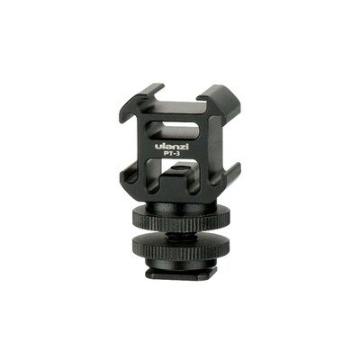 Ulanzi PT-3S Hot Shoe - Triple Cold Shoe Mount ตัวจับ 3ทาง ต่อกับกล้อง ไม้เซลฟี่  ขาตั้ง  ขาตั้งกล้อง