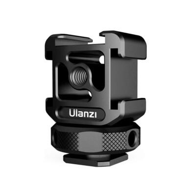 Ulanzi PT-12 Hot Shoe - Triple Cold Shoe Mount ตัวจับอลูมิเนียม 3ทาง ต่อกับกล้อง ไม้เซลฟี่  ขาตั้ง  ขาตั้งกล้อง
