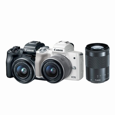 Canon Camera EOS M50 Double Kit (15-45, 55-200mm. IS STM) - รับประกันร้าน Digilife Thailand 1ปี