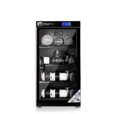 Dry Cabinet DB-90C ขอบทอง - ตู้กันชื้น 90L ลิตร - รับประกันร้าน Digilife Thailand 3ปี