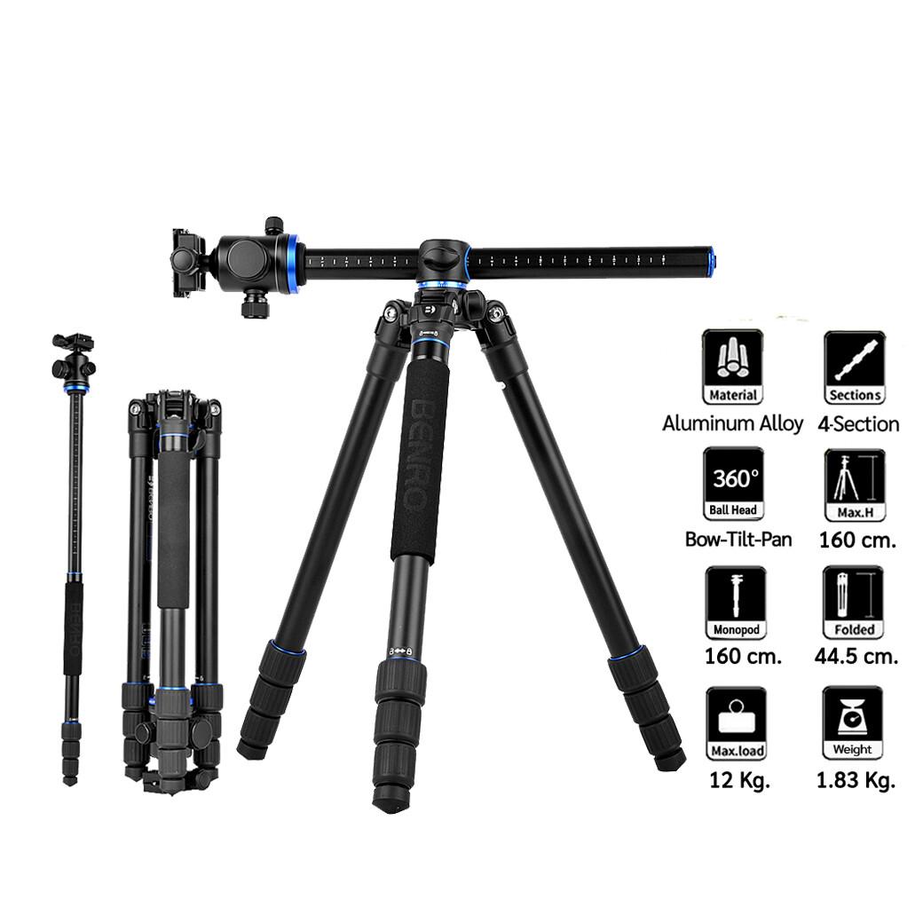 Benro Tripod GA168T B1  [ GA168TB1 ] - ขาตั้งกล้องอเนกประสงค์ Monopod , กลับหัว , Top View