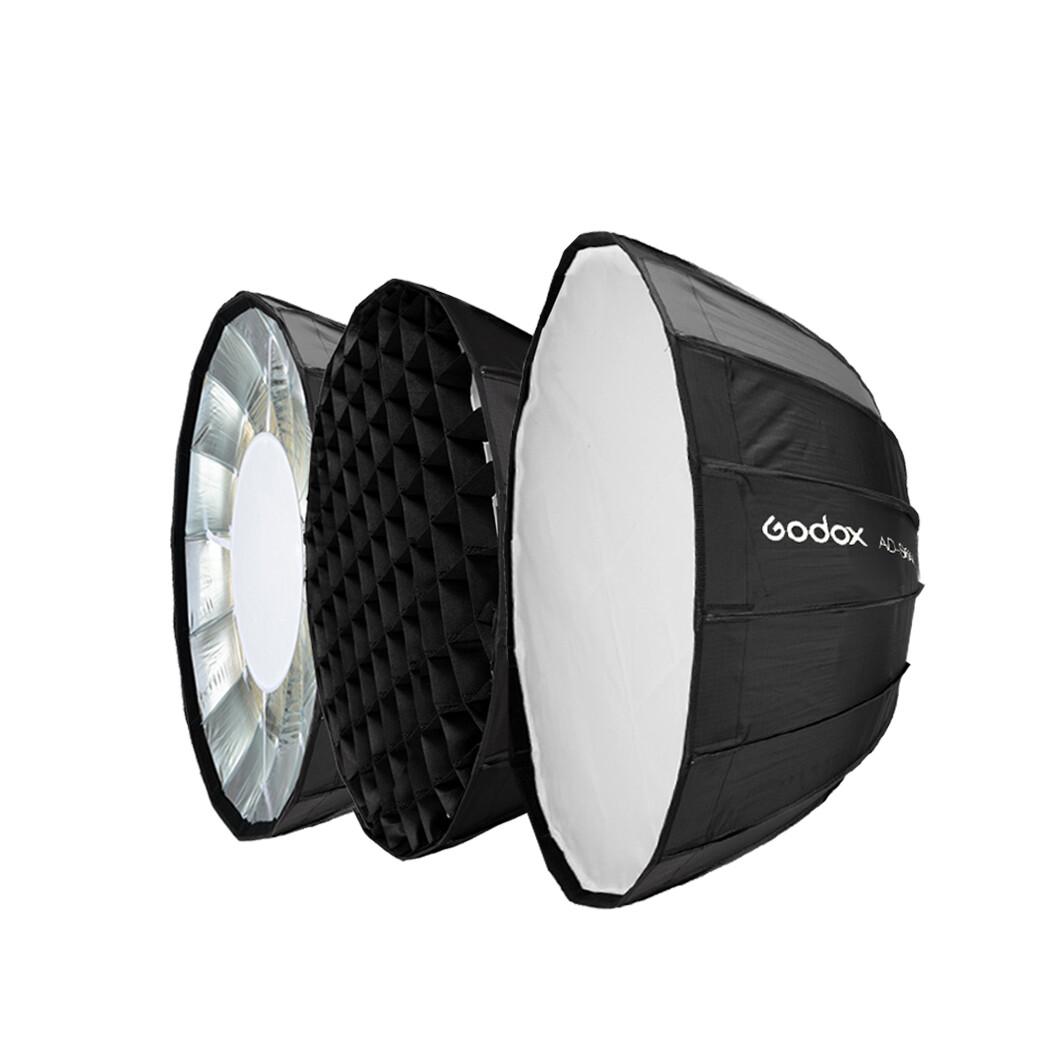 Godox AD-S85S Parabolic Softbox 85 cm. With Grid ( AD-S85 S Godox Mount For AD300 Pro  AD400 Pro  ML60 )