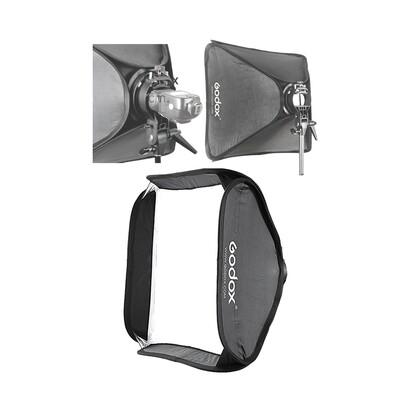 Godox Softbox 60*60cm. ใช้งานร่วมกับ S2 และ S-TYPE Speedlite Bracket ( Bowen Mount ) ** ซ๊อฟบ๊อกอย่างเดียว**