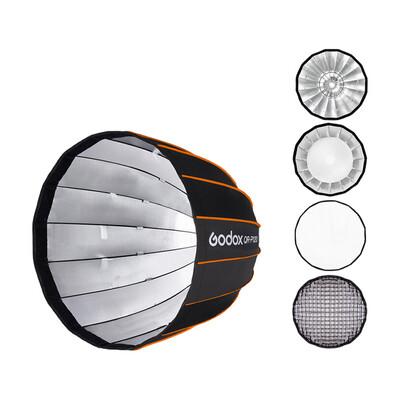Godox Softbox QR-P120 With Grid - Quick Release Parabolic Softbox 120 cm. - Bowen Mount