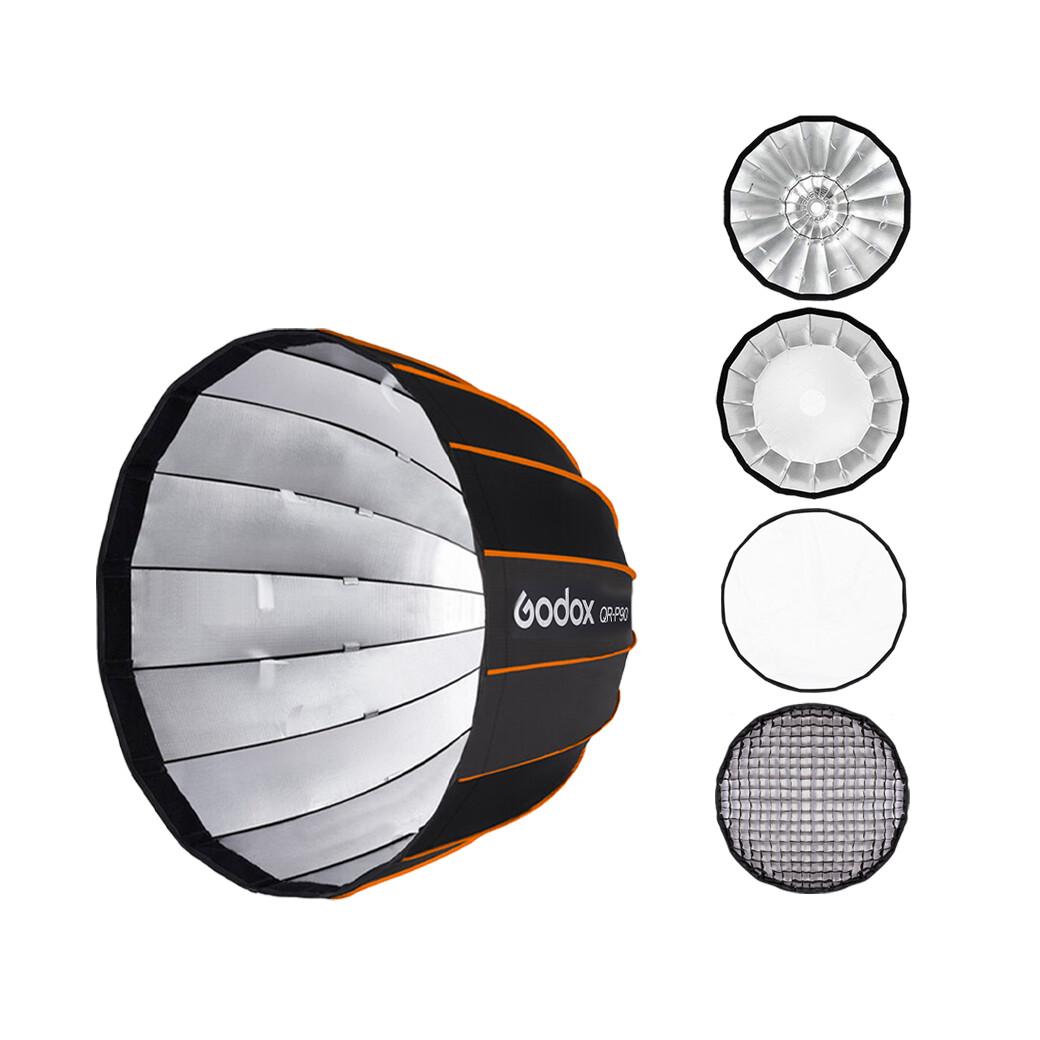 Godox Softbox QR-P90 With Grid - Quick Release Parabolic Softbox 90 cm. - Bowen Mount