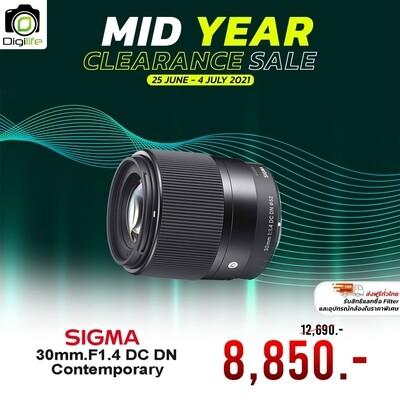 Sigma Lens 30 mm. F1.4 DC DN Contemporary * มิลเรอร์เลส - รับประกันร้าน Digilife Thailand 1ปี