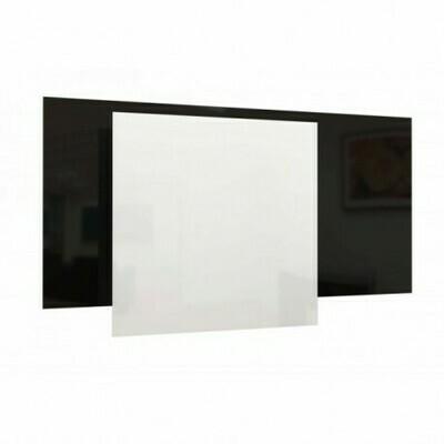 2Heat Glaspaneel 60x120 cm  600 Watt zwart/wit (meer info)