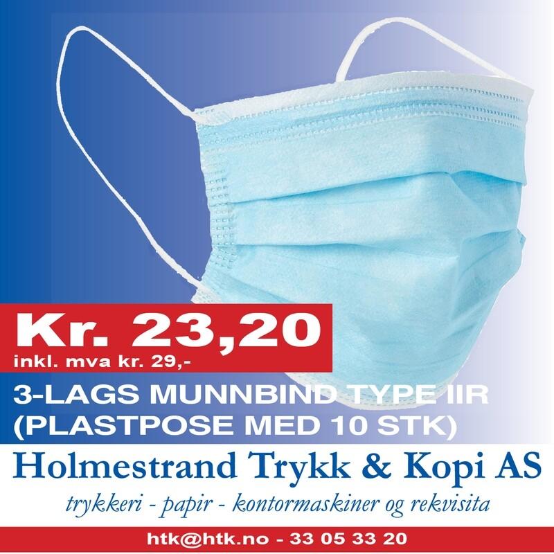 3-lags munnbind Type IIR (plastpose med 10 stk)