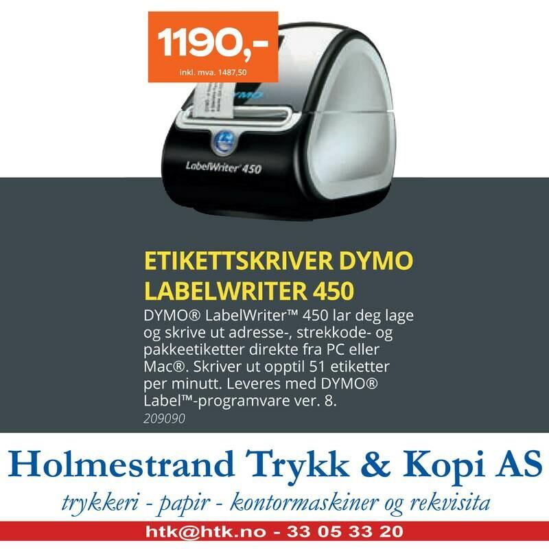 ETIKETTSKRIVER DYMO LABELWRITER 450