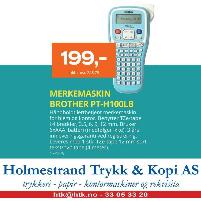 MERKEMASKIN BROTHER PT-H100LB