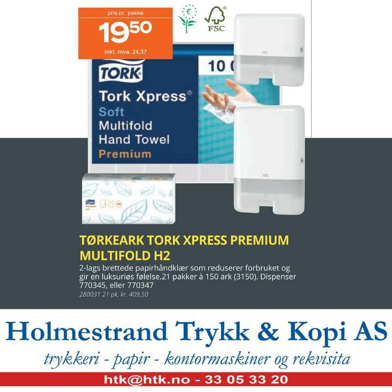 TØRKEARK TORK XPRESS PREMIUM MULTIFOLD H2