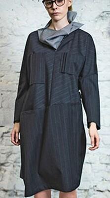 Платье со съемным воротником Летисия