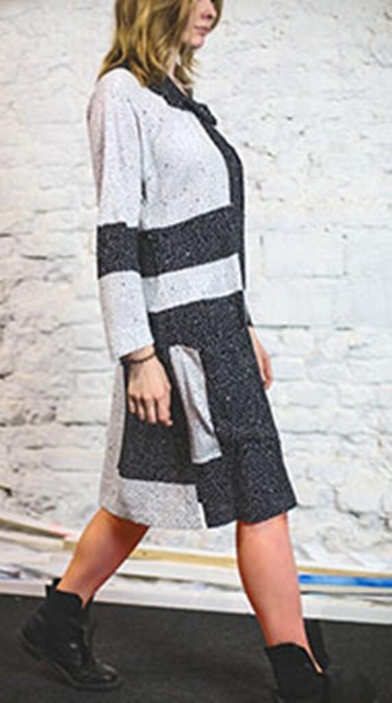 Платье со съемным воротником Диас