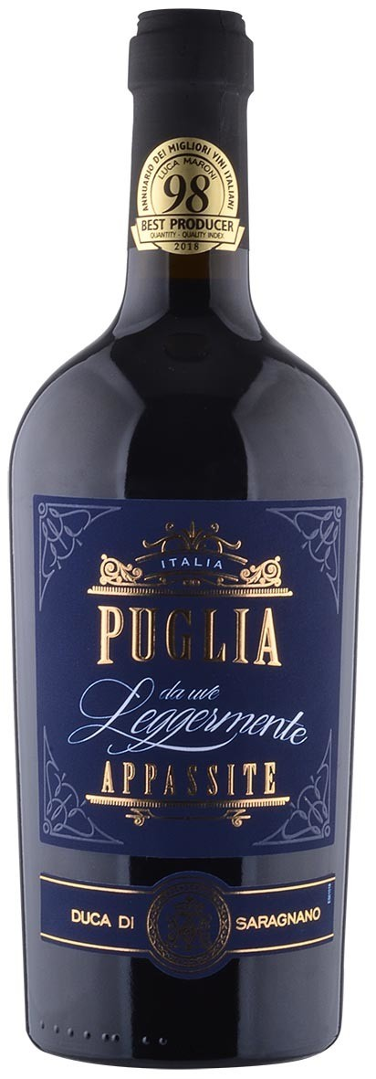 PUGLIA * Duca di Saragnano - Puglia Rosso da Uve leggermente Appassite 2019 (98 punti)