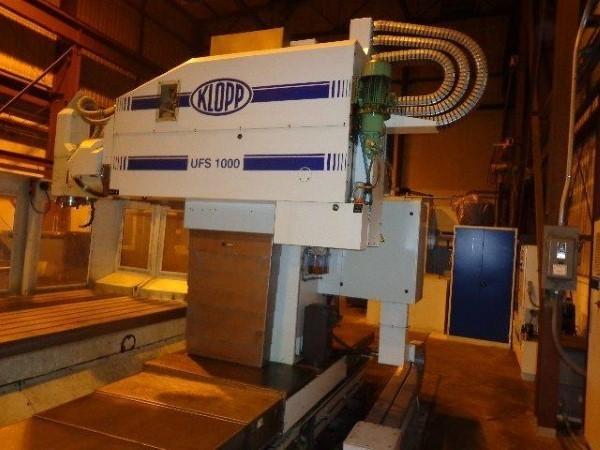 1 – USED KLOPP UFS 1000 CNC FLOOR TYPE UNIVERSAL VERTICAL / HORIZONTAL MILLING MACHINE