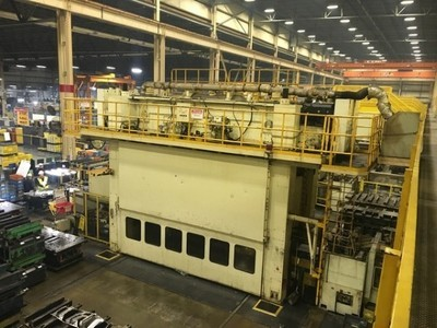 ​1 – USED 600 TON KOMATSU SERVO DRIVE PRESS WITH TRANSFER