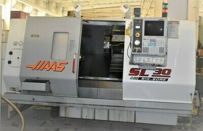 "1 – USED 30"" X 39"" HAAS ""BIG BORE"" CNC TURNING CENTER"