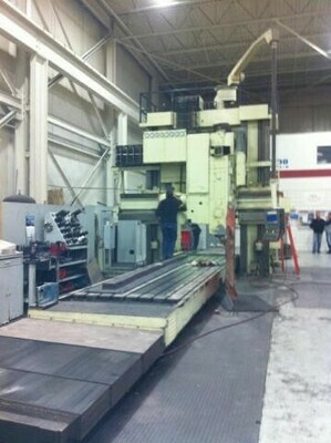 "1 – USED INGERSOLL 69"" X 100"" X 323"" DOUBLE HOUSING 5-AXIS PLANER MILL"