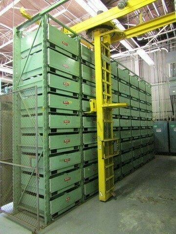 ​2 – USED VIDMAR STAK PALLET ENCLOSURE SYSTEMS