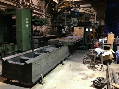 "1 – USED 60"" X 48"" 267"" CINCINNATI DOUBLE HOUSING PLANER MILLER"
