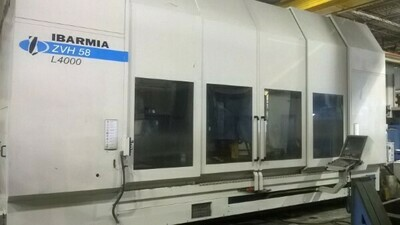 """1 – USED 41"""" X 180"""" IBARMIA CNC TRAVELING COLUMN 5X VERTICAL MACHINING CENTER"""