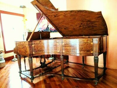 "​1 – USED STEINWAY SKETCH 216 ""COLONIAL ART CASE"" GRAND PIANO"