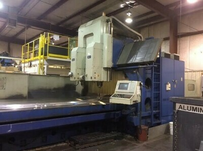 "1 – USED 160"" X 100"" VIPER TWIN SPINDLE BRIDGE TYPE MACHINING CENTER"