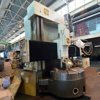 "1 - USED 100"" GRAY DOUBLE COLUMN CNC VERTICAL BORING MILL"