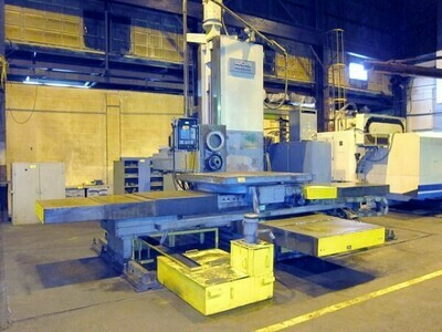 "1 - USED 6"" LUCAS CNC TABLE TYPE HORIZONTAL BORING MILL WITH BUILT IN ROTARY TABLE"