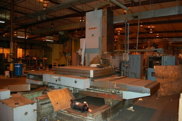 """1 – USED 5"""" SUMMIT TABLE TYPE CNC HORIZONTAL BORING MILL WITH BUILT IN ROTARY TABLE"""