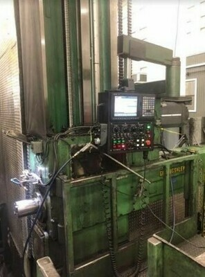 "1 - USED 6"" GIDDINGS AND LEWIS CNC FLOOR TYPE HORIZONTAL BORING MILL"