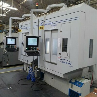 ​2 - USED WINBRO HIGH SPEED 6-AXIS EDM DRILLING SYSTEM