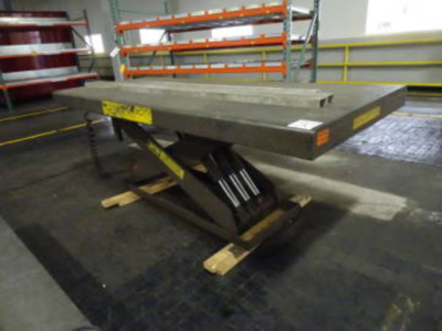 "1 - USED 49"" X 9' 12,000 LB. AUTO QUIP SCISSOR LIFT TABLE"
