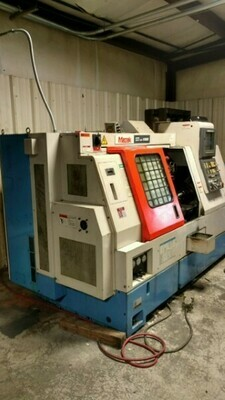 "1 – USED 17.13"" MAZAK CNC TURNING CENTER WITH LIVE TOOL AND SUB-SPINDLE"