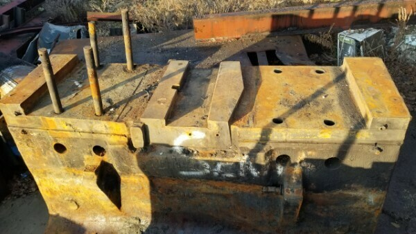 3 – USED 5,000 LB. ERIE AIR DROP HAMMER BASE'S ONLY