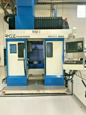 """2 - USED 40"""" X 47"""" RIVAX 800 5-AXIS CNC VERTICAL MACHINING CENTERS"""