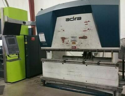 "1 - USED 80 TON X 96"" ADIRA QHD 7025 DOWN ACTING HYDRAULIC CNC PRESS BRAKE"