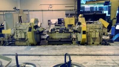 1 - USED ATLAS-DAKE MDII RAIL ROAD CNC WHEEL LATHE