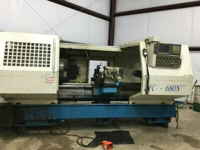 """1 - USED 26"""" X 80"""" ACRA FCH-2680 CNC LATHE WITH 8"""" HOLE"""