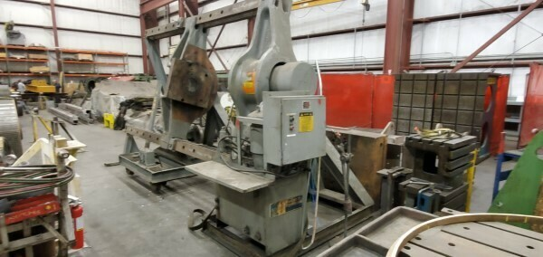 1 - USED 400 TON RODGERS INCLINED HYDRAULIC WHEEL PRESS