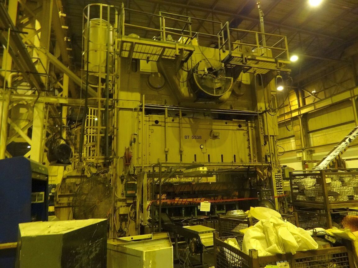 1 - USED 1,000 TON VERSON STRAIGHT SIDE ECCENTRIC GEARED MECHANICAL PRESS