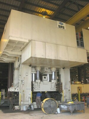 1 - USED 7,860 TON SIEMPELKAMP DOWN ACTING HYDRAULIC PRESS