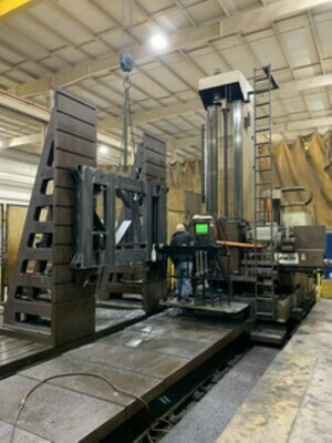 "1 - USED 6"" UNION CNC FLOOR TYPE HORIZONTAL BORING MILL"