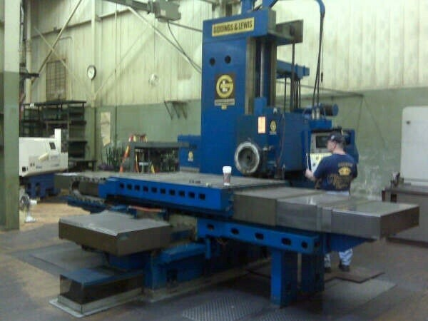 """1 - USED 4"""" GIDDINGS AND LEWIS CNC TABLE TYPE HORIZONTAL BORING MILL"""