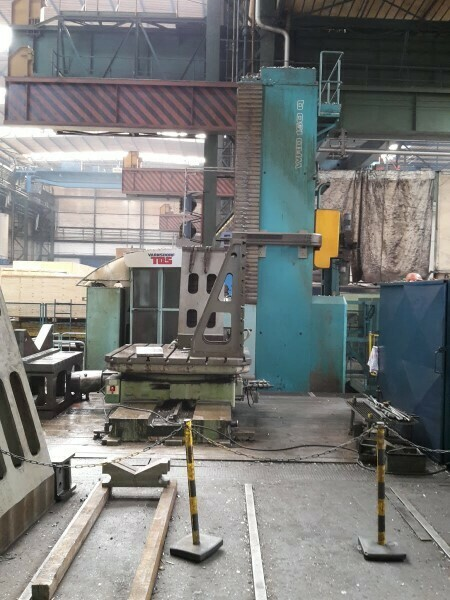 """1 - USED 6"""" TOS 4-AXIS CNC MODEL WRD 150 Q FLOOR TYPE HORIZONTAL BORING MILL"""